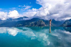 Hồ bơi vô cực ở Topas Ecolodge Sapa