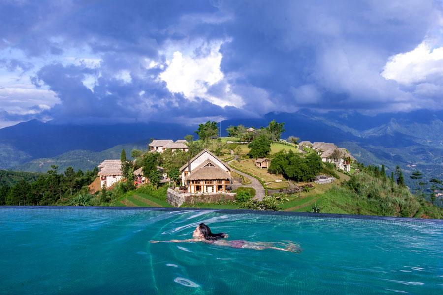 Mãn nhãn với hồ bơi vô cực ở Topas Ecolodge Sapa