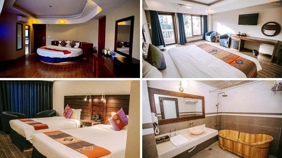 Một số phòng nghỉ sang trọng tại khách sạn Charm du khách có thể tham khảo